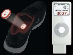 The technology behind the pair is a wireless sensor and receiver that can  be used with the Ipod Nano and a pair of compatible Nike shoes.