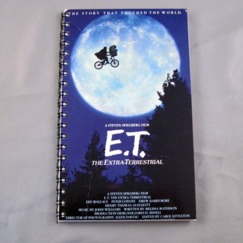 "E.T. Recycled VHS Journal Sketchbook: by ""MovieFilmBows"""