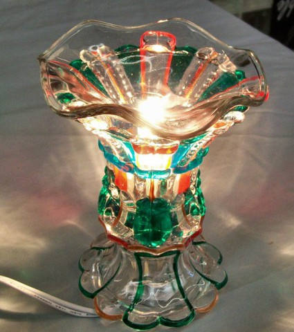 Eccolights Christmas themed hand-painted glass tart & oil warmer