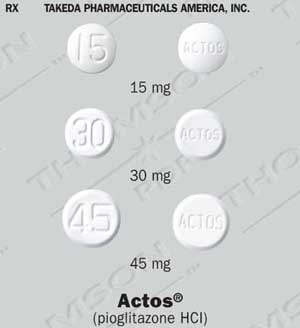 Actos (pioglitazone), manufactured by Takeda