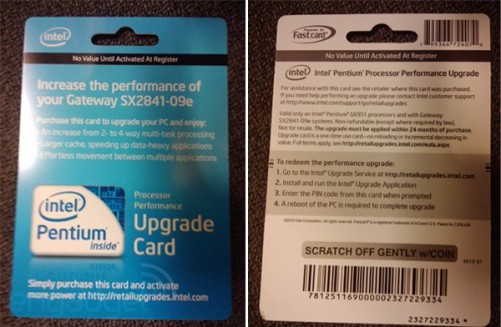 Upgrade Card: For the Intel Pentium G6951.