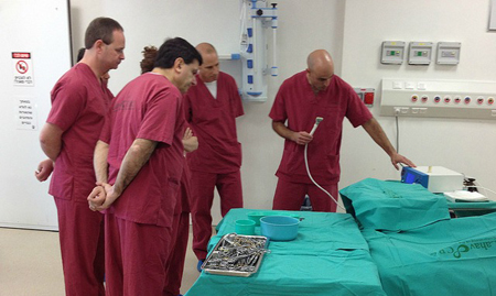 Surgeons Applying BioWeld1: Source:Israel21c.org