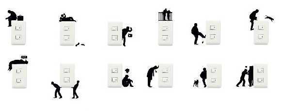 Wall Story Removable Silhouette Stickers Turn On Your