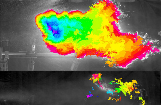 Jet Fuel Comparison With (lower image) and Without (upper image) New Additive: JPL/CalTech