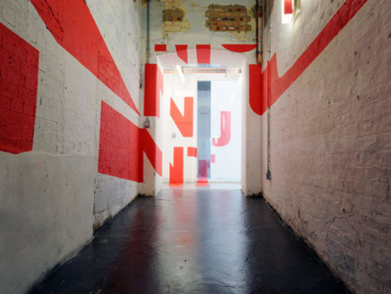 Anamorphic Typography (a bit more complicated than it looks!): by Joseph Egan and Hunter Thomson via freshome.com