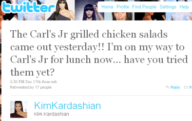 Kim Kardashian Sells Tweets on Twitter