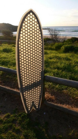 Cardboard Surfboard core... believe it or not!: © Cardboard Safari