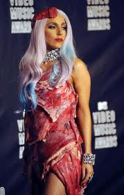 Crazy! The Lady Gaga Meat Dress