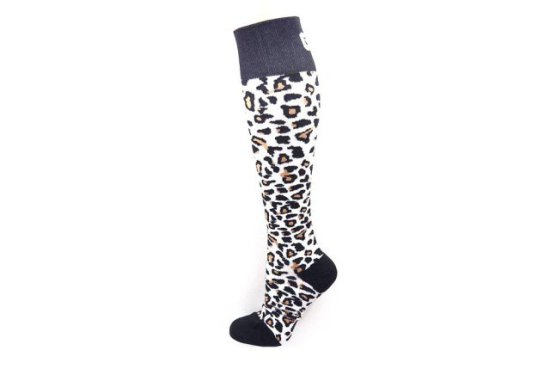 Bondi Band White Leopard Compression Socks