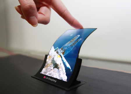 "LG also demoed a 5"" flexible panel at the SID Display Week tradeshow last month."