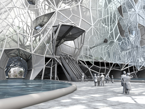 GEOtube proposal for the city of Dubai: ©Faulders Studio