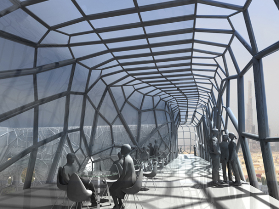 GEOtube proposal for the city of Dubai: Faulders Studio