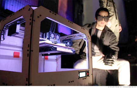MakerBot 3-D Sunglasses: Source: CNN.com