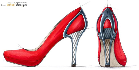 Red High Heels: Source: Materialise.com