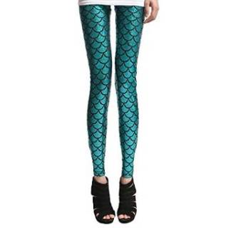 shiny mermaid scale leggings