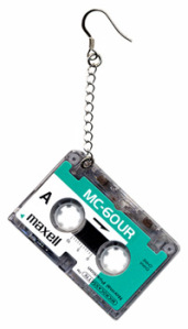 Play It Over Micro Cassette Earrings