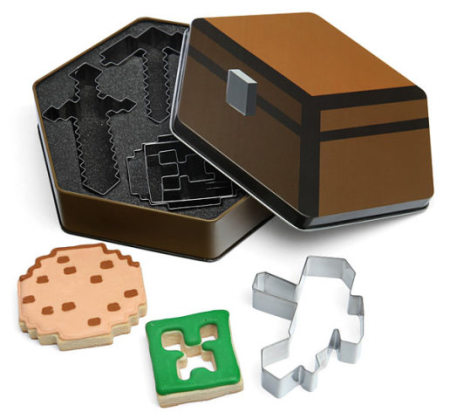 Minecraft Cookie Cutters: image via thinkgeek.com