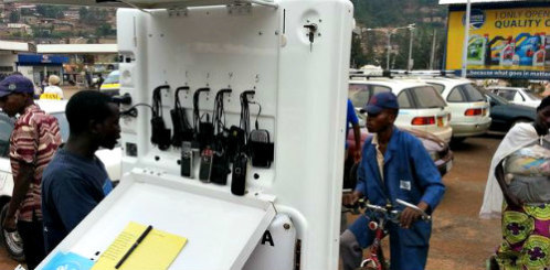 Mobile Charging Kiosk on the Street: People will come from miles around to use mobile charging stations