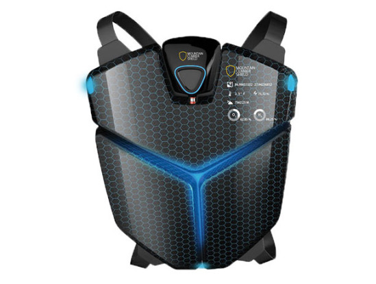 Futuristic Mountain Climber Shield