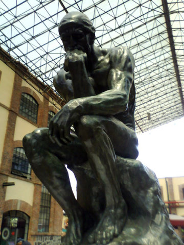 The Thinker by Rodin, perhaps Rodin&#039;s most famous sculpture: image via mx-df.net