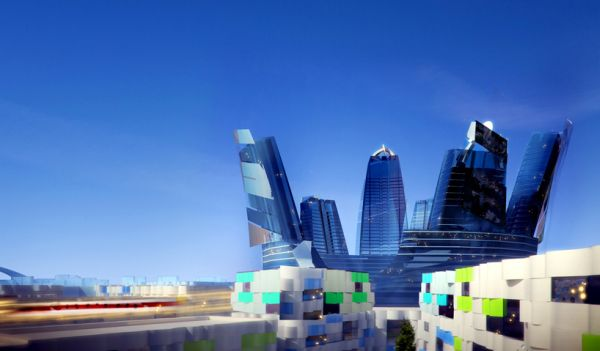The Green City Will Have 10 Leed-Certified Towers Connected by a Monorail: Image via CK Designworks