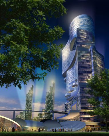 The Towers Will Be Modeled After Themes From Chinese Mythology: Image via CK Designworks