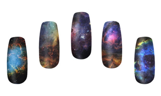 Nebula Nail Wraps: image via thinkgeek.com