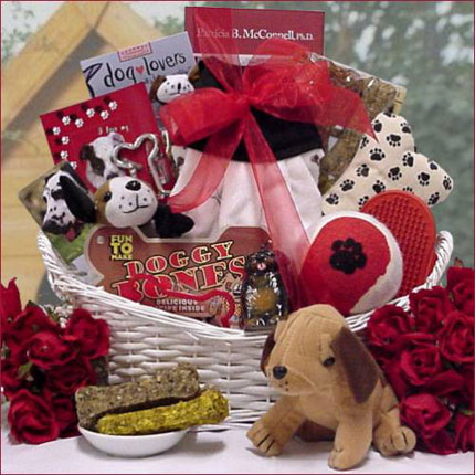 new puppy Christmas Gift Baskets