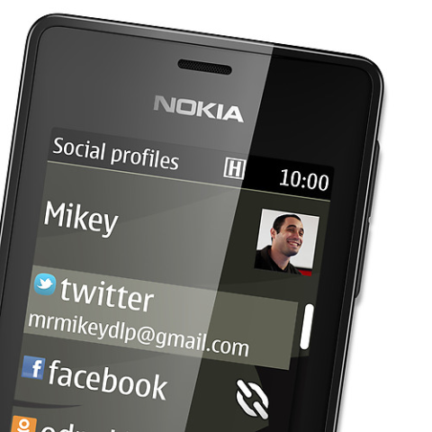 Social Profiles section of the operating system
