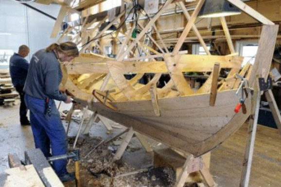 Viking Ship Being Built (Image via Culture Nordic)
