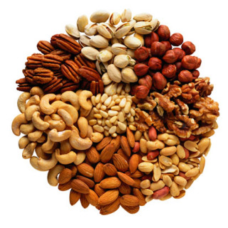Nuts are all heart heathy!: image via trueslant.com