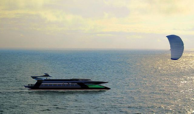 Ocean Empire LSV Super Yacht: wind, solar, and wave power