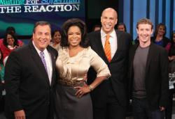 Chris Christie, Oprah Winfrey, Corey Booker & Mark Zuckerberg