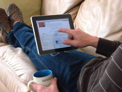PadPivot lets you use your lap as a desk: ©PadPivot