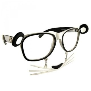 panda glasses with clear lenses