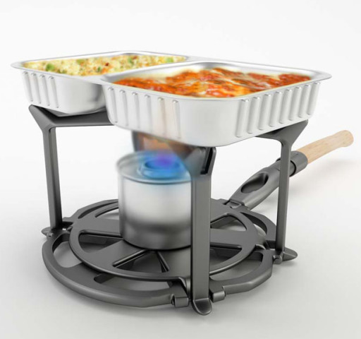 Panfold Doubles As A Food Warmer
