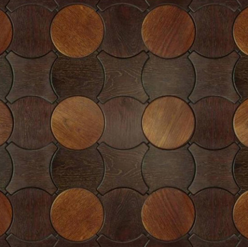 'Jacks' pattern from Enigma Collection of wood flooring: © Jamie Beckwith via trendir.com