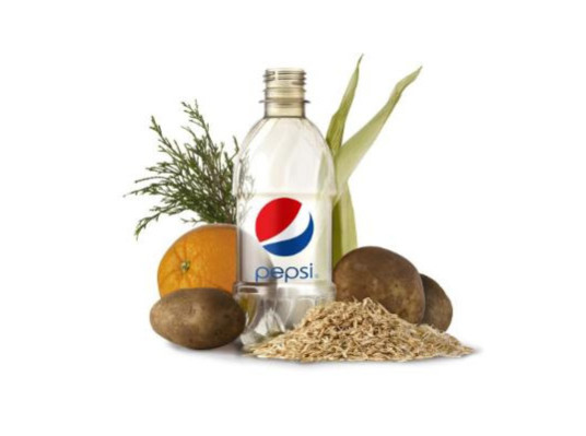 PepsiCo announces a new bio-based, 100% recycleable bottle: Image via Inhabitat.com