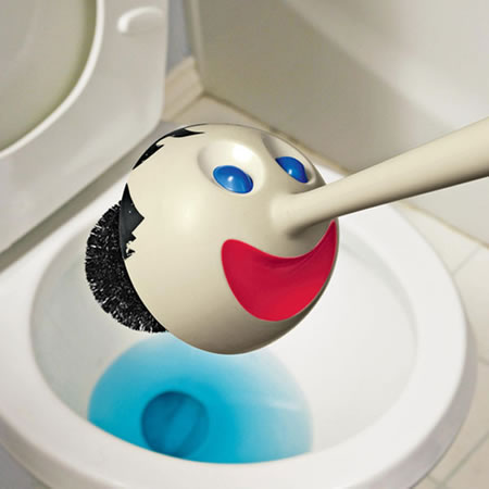 Pinocchio Toilet Brush