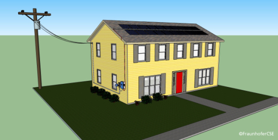 Plug and Play Solar Panel Rendering
