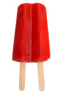 A cherry Popsicle