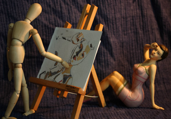 Old School Artist's Figure for Posing: Stickybones poseable artist's figure is light-years ahead of wooden figures