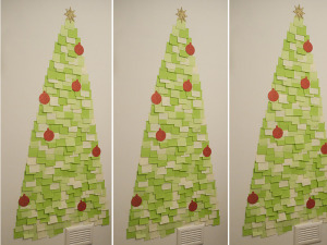 Post It Christmas Tree