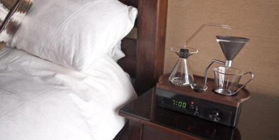 Barisieur, Coffee Maker Alarm Clock (You Tube Image)