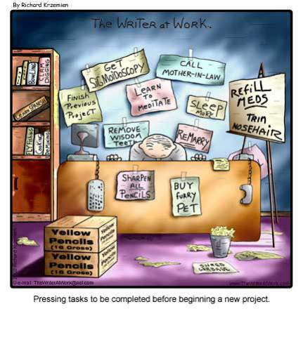 Procrastination by Richard Krzemien: image via thewriteratwork.com