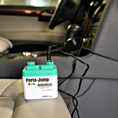 Porta-Jump starts your battery up from inside your car.