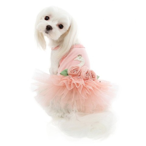 Puppy Angel Swan Tutu Dog Dress: image via PETTeCOATS.com