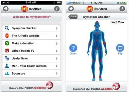 myHealthMate iPhone app by The Alfred hospital, Melbourne, Australia: credit: Reuters/HANDOUT