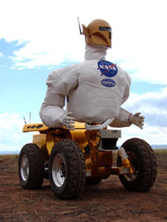 Robonaut 2 can't get his feet wet yet.: image via nasa.gov