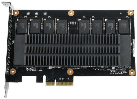Under the shroud: flash memory and controllers under a heatsink